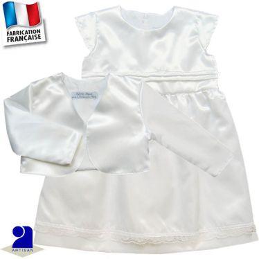 Ensemble 2 pièces robe et boléro brillant, Made in France