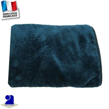 Couverture berceau touché peluche Made in France