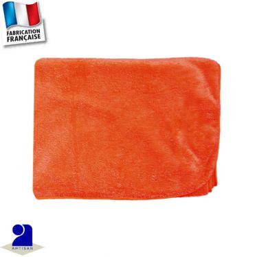 Couverture berceau touché peluche Made in France
