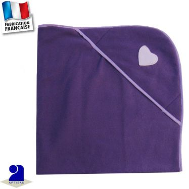 Couverture avec capuche, double face Made in France