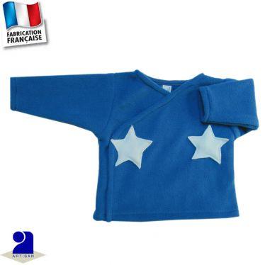 Gilet forme brassière étoiles appliquées Made in France