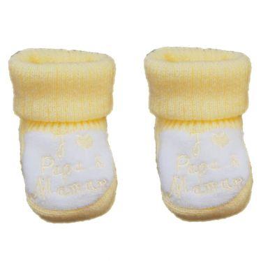 Chaussons chaussettes J'aime papa et maman