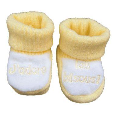 Chaussons chaussettes J'adore les Bisous