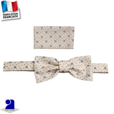 Noeud papillon+pochette 0 mois-16 ans Made in France