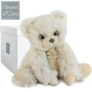 Peluche ours écru 25 cm collection les Softy