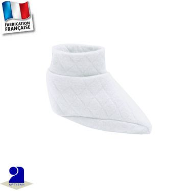 Chaussons chaussettes petits losanges Made in France