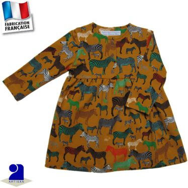 Robe imprimé Zèbres Made in France