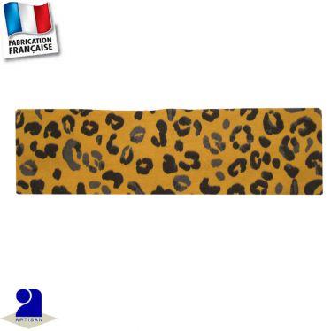 Bandeau cheveux imprimé léopard Made in France