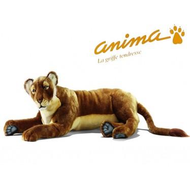 Peluche Lionne Couchée 100 cm