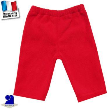 Pantalon uni taille élastiquée Made in France