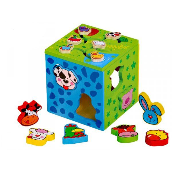 jeux en bois cube multi activit s. Black Bedroom Furniture Sets. Home Design Ideas
