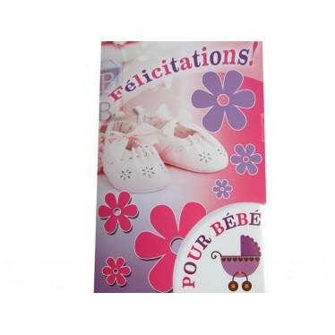 Félicitations pour bébé en rose